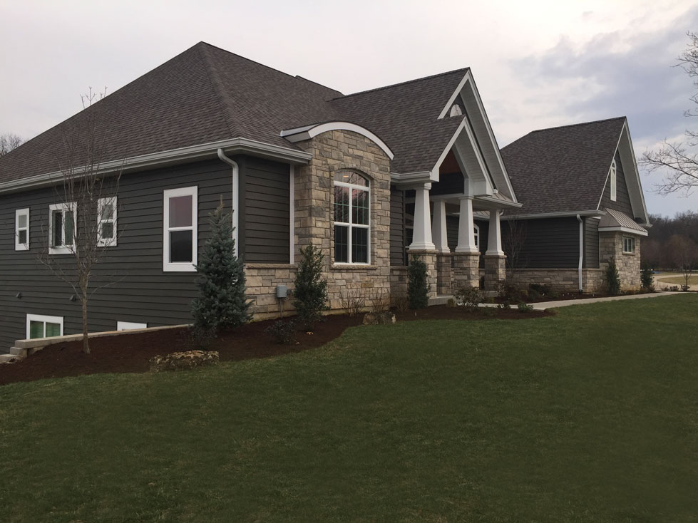 Tennant designed this landscape for the owners of this new construction home